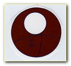 Picture of CB387 Domed circle with large hole