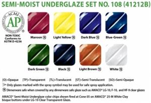 Picture of Semi-Moist Underglaze Set 108