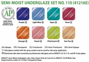 Picture of Semi-Moist Underglaze Set 110