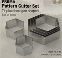 Picture of C-TCS18 Hexagon shape cutters