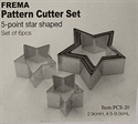 Picture of C-TCS20 Star shape cutters